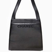 Vintage Chanel Black Leather Handbag