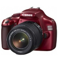 Canon EOS 1100D (Red) Digital SLR Camera w/ EF-S 18-55mm f/3.5-5.6 IS II Lens