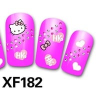 Cute Cheap 3D Nail Sticker Nail thousands of models available XF191