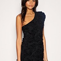 TFNC | TFNC Dress With Rose Appliqué Detail And One Shoulder at ASOS
