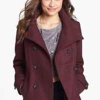Thread & Supply Double Breasted Peacoat (Juniors) (Online Only) | Nordstrom