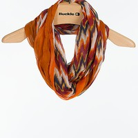 D & Y Abstract Print Infinity Scarf