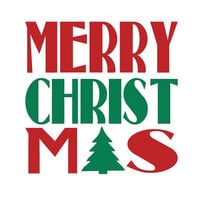 Merry Christmas 5in Vinyl Decal Sticker