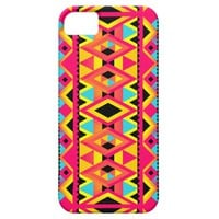 Kimi - Pink Yellow Abstract Aztec Tribal Pattern iPhone 5 Case
