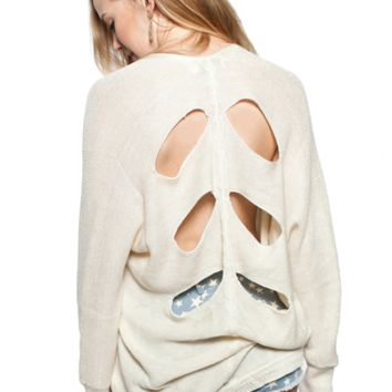 Cut-Out Back Knit Sweater