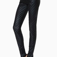 Tripp NYC Quilted Faux Leather Skinny Jeans