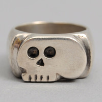 fine light trading - trench art skull ring