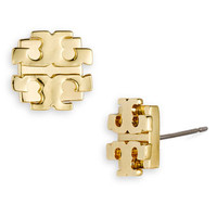 Tory Burch Large Logo Stud Earrings