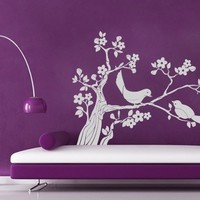 Birds on Tree Sticker - Moon Wall Stickers