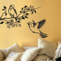 Birds with Branch Sticker - Moon Wall Stickers