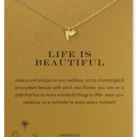 Dogeared Life is Beautiful Necklace, 18""