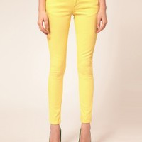 Skinny Yellow Jeans, Yellow Jeans, Yellow Denim Jeans