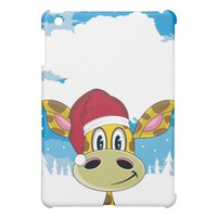 Santa Hat Giraffe ipad Case