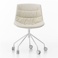 MDF Italia Flow Chair - 5-Legged - Style # F0521x4, Modern Desk Chairs - Leather Desk Chairs - Executive Chairs | SwitchModern.com