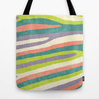 Fruit Stripes. Tote Bag by Nick Nelson