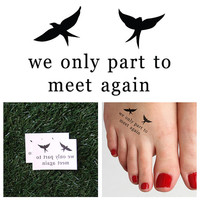 Boomerang - Temporary Tattoo (Set of 2)
