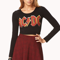 Rock n' Roll AC/DC Crop Top
