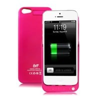 GREENERY*/ HIGH QUALITY External Backup Rechargeable Extended Battery Charger Case for iPhone 5 Mobile Phone,iPhone 5 Portable Power Bank/Multi-color Available(Compatible with iOS7) (Rose, 2200mah)