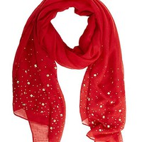 Pyramid Studded Oblong Scarf: Dots.com