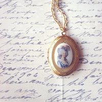 Marie Antoinette Necklace - Marie Antoinette Locket French Locket French Necklace French Jewelry Paris Locket Paris Necklace Paris Jewelry