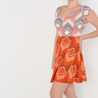 Love Fire NEW Womens Juniors Stretch Tribal Print Casual Sun Circle Dress Sz M
