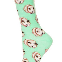 GREEN GUINEA PIG ANKLE SOCKS
