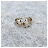 Baby Bow Gold Midi Ring- Tanya Kara Jewelry