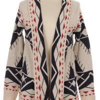 Navajo Tribal Print Cardigan Sweater
