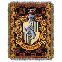 Exclusive Hufflepuff Crest Tapestry Throw | WBshop.com | Warner Bros.