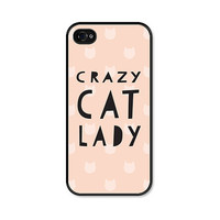 iPhone 5 Case - Crazy Cat Lady - iPhone Cat Case - iPhone 5s Case - Pink Peach and Black