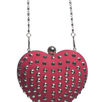 Stud Heart Clutch | Wet Seal