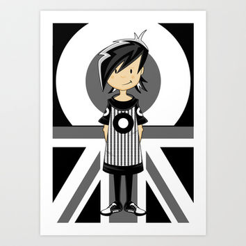 Mod Girl Illustration Art Print by markmurphycreative