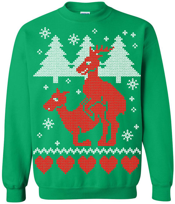 ... menage a trois of ugly christmas sweaters ugly christmas sweater