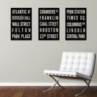 COLLECTION of 3 New York Subway Sign Prints Bus by FlyingJunction
