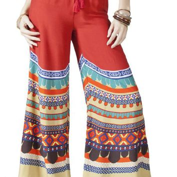 Flying Tomato Women's Boho Print Palazzo Pants
