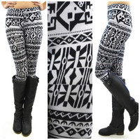 Spin Street Grey Tribal Leggings