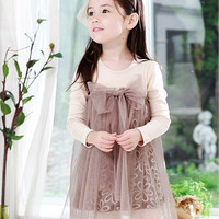 Girls Apricot Dress-Apricot Dress for Girls- Toddler Apricot Dress- Baby Apricot Dress Peach Dress