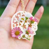 Wildflower Vase Necklace