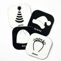 Holiday Hats Coaster Set