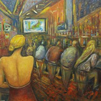 Impressionist Painting from Brazil - Bar | NOVICA
