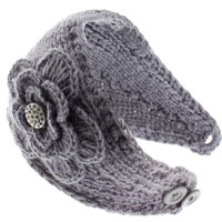 8829-18 NY Deal Knit Winter Headband Ear Warmer, Gray