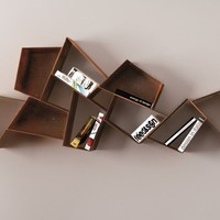 Modular floating bookcase W SU LINE by Ronda Design | design Diego Collareda