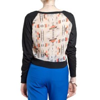 Flying Tomato Women's Aztec Print Mix Sweater