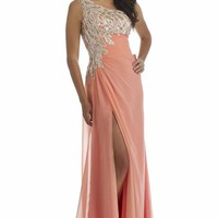 Asymmetrical Evening Gown by Morrell Maxie