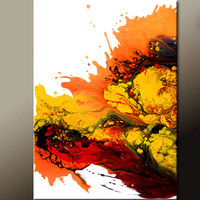Original Abstract Canvas Art Painting 18x24 Contemporary Modern Original Art by Destiny Womack - dWo - Blaze of Glory