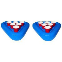Amazon.com: Pool Pong Rack Floating Beer Pong Set, Includes 2 Rafts and 3 Pong Balls: Sports &amp; Outdoors