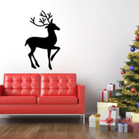 Christmas Reindeer Removable Vinyl Wall Decal 22362