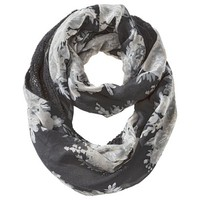 Mossimo Supply Co. Floral Woven Reversible Knit Loop Scarf - Black