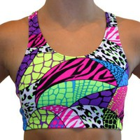 GemGear Jungle Print Raser Sports Bra