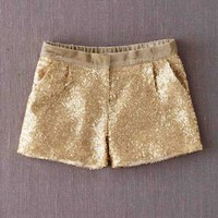 Sequin Shorts (Gold)